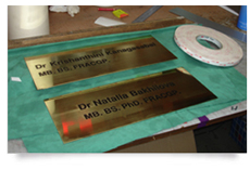 brass engraved plaques