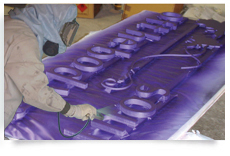 spray painting signage