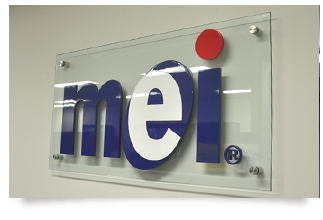 glass signs with 3d letters