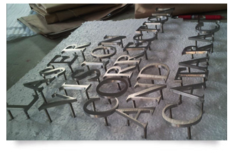 metal signs ispace signs With welded metal letters