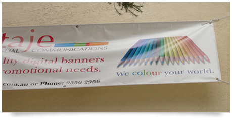 colour printed banner sign