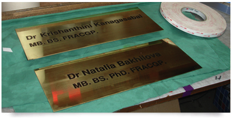 brass engraved medical plaques