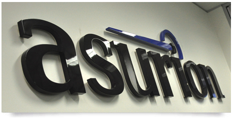 office sign in the Sydney office for Asurion