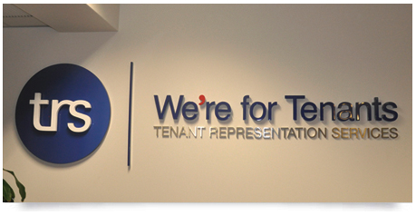 office sign for corporate suit with spray apinted letters and stainless steel letters together creating an amazing effect