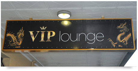 vip gaming sign double sided light box