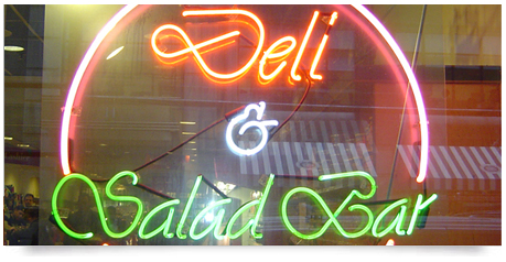 window sign in neon glass