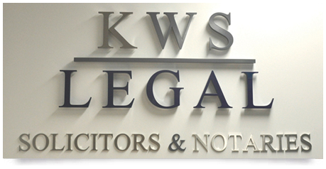 Office signs for law firm