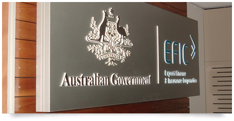 illuminated office sign created for the Australian goverment