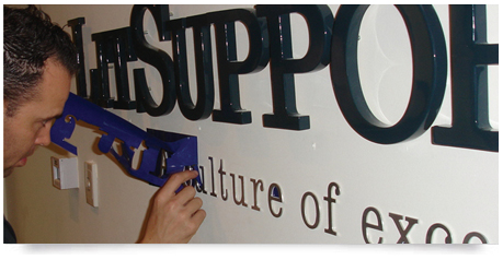 installation of office signage