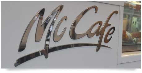 stainless steel signs mirror polished