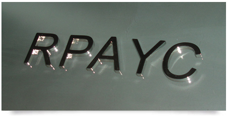mirror polished solid stainless steel letters