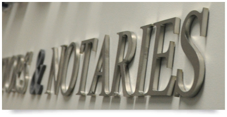 brushed solid stainless steel lettering