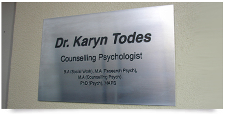 stainless steel doctors plaque