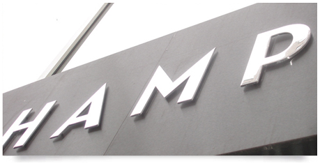 outdoor stainless steel sign chrome finish