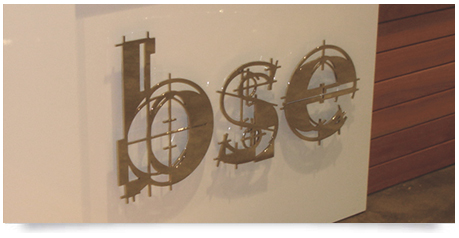 office stainless steel signs