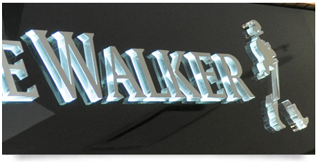 stainless steel faces on illuminated letters