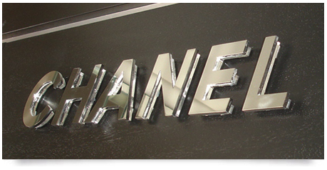raised stainless steel letters