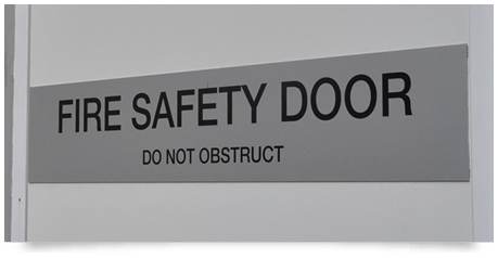 stainless steel fire door signs