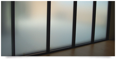 full window frosting on glass panels