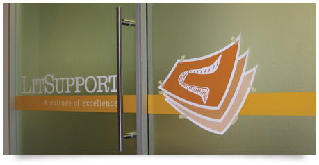 digital printed logo with window frosting